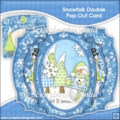 Snowfolk Double Pop Out Card & Envelope