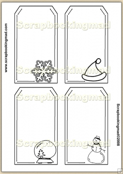 Template Overlay Christmas Tag (1) PDF Sheet