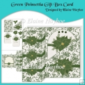 Green Poinsettia Gift Box Card