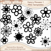 16 PNG Fancy Flower 1 Templates - CU OK