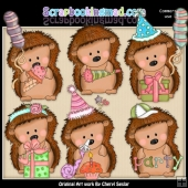 Pepper The Hedgehog Birthday Wishes ClipArt Collection