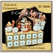 Nativity Advent Drawers