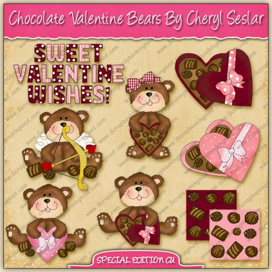 Chocolate Valentine Bears Collection - SPECIAL EDITION - Click Image to Close