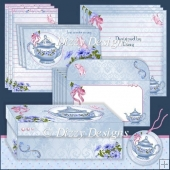 Petunia Teapot Boxed Stationery Set