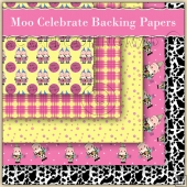 5 Moo Celebrate Backing Papers Download (C164)