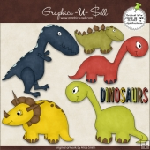 Dinosaurs 1 ClipArt Graphic Collection
