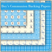 5 Boy's Communion Backing Papers Download (C93)