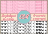 8 PNG Paper Overlays 12 x 12 Designer Resources Pack 11