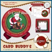 Santa's Last Delivery Plate Card Kit