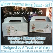 Winter Snowman Gable Boxes - Set 1