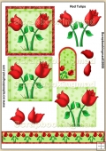 Red Tulips PDF Decoupage Download