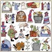 4 Seasons ClipArt Graphic Collection 2
