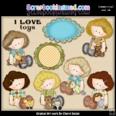 Sophie Loves Toys ClipArt Collection