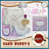 White Fashion Accessories Shaped Fold Card Kit