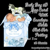 Baby Boy 3D Box Card & Envelope Kit
