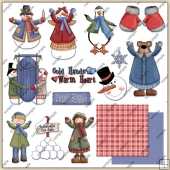 Snow Time Collection 1 ClipArt Graphic Collection