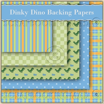 Dinky Dino 5 Backing Papers Download (C48)