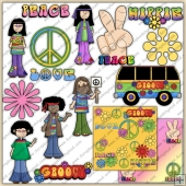 Groovy 60's ClipArt Graphic Collection