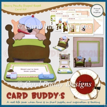 Beary Pawly Shaped Easel Card Kit
