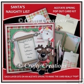 Acetate Spring Pop Out Card - Santa's Naughty List