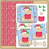 Cute From Our House At Christmas PDF Decoupage Download