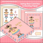Spring Bears PDF Decoupage Card Box & Backing Paper Download