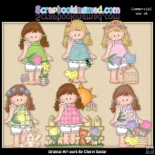Barefoot Beth Loves Easter ClipArt Collection