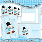 Cool Dude Christmas Foldback Card, Envelope & Backing Paper