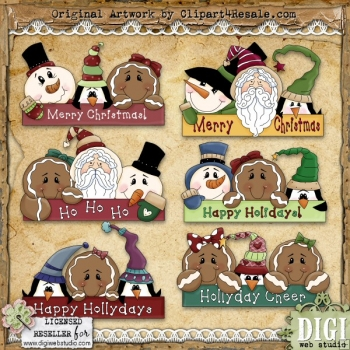 Holiday Greetings 1 ClipArt Graphic Collection