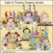 Katie and Friends Summer Garden ClipArt Graphic Collection
