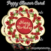 Poppy Flower Shaped Card