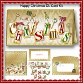 Happy Christmas DL Card Kit