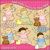 Sweet Cheeks Everyday ClipArt Graphic Collection