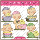 Easter Egg Babes ClipArt Graphic Collection - REF - CS