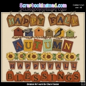 Autumn Titles ClipArt Graphic Collection