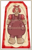 Ginger Bread Girl (7) Decorative Tag