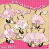 Pretty Pink Ragdolls ClipArt Graphic Collection