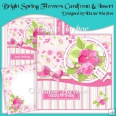 Bright Spring Flowers Cardfront & Insert