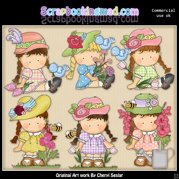 Agnus In The Flowers ClipArt Collection