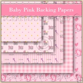 Baby Pink Backing Papers Download (C70)