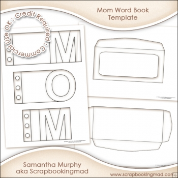 Mom Word Book Template Commercial Use