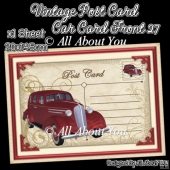 Vintage Post Card Car Card Front 27