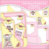 Little Mouse Weding Day Scalloped Pocket Card & Envelope Set