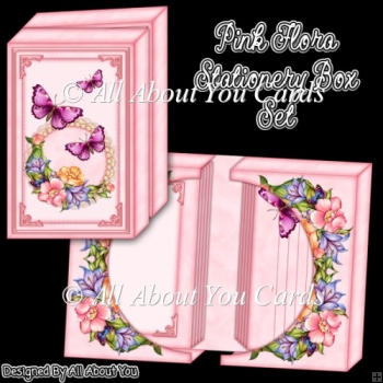 Pink Flora Stationery Box Set