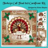 Turkeys Call Foul 8x8 Christmas Cardfront Kit