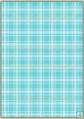 A4 Backing Papers Single - Turquoise Gingham - REF_BP_138