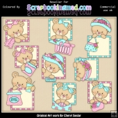 RESALE ART WORK Peek A Boo Bears Shopping ClipArt