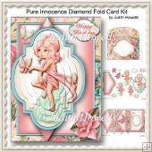 Pure Innocence Diamond Fold Card Kit