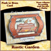 Push to Beau Card -- Rustic Garden