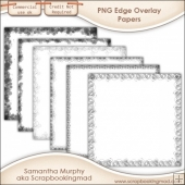 Edge Paper Overlays - PNG FILES - CU OK
